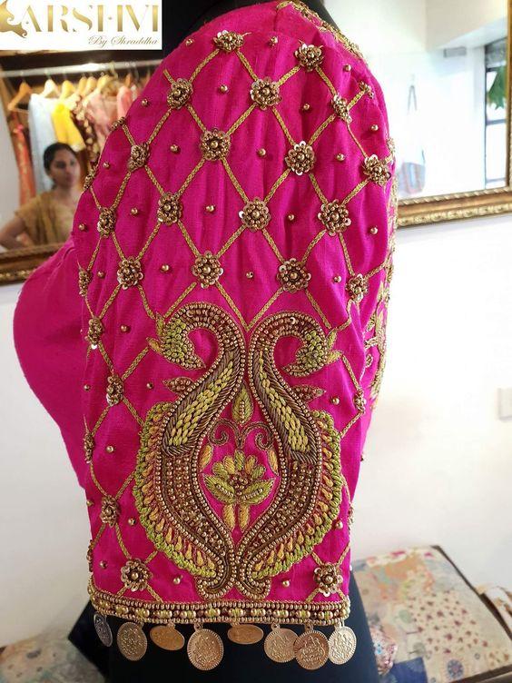 38.Check blouse design #38