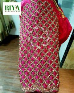 5.Check blouse design #5