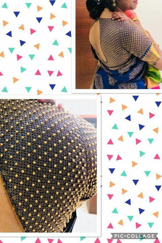 7.Check blouse design #7