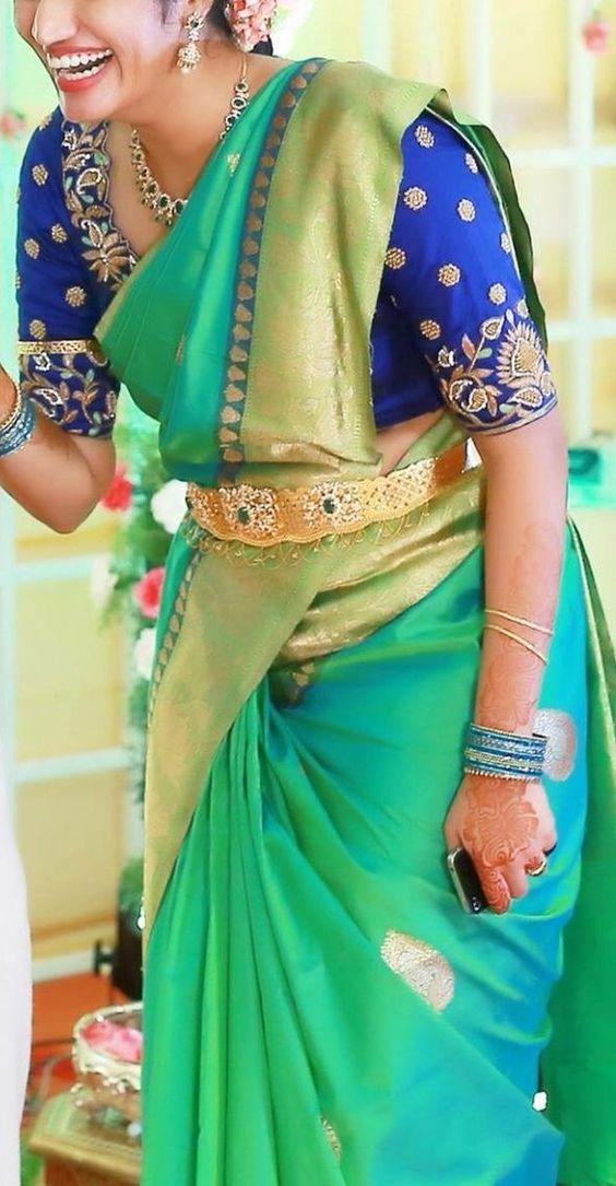 Wedding Blue Silk Saree Bridal Blue Silk Sarees Photo Gallery Wedandbeyond Com