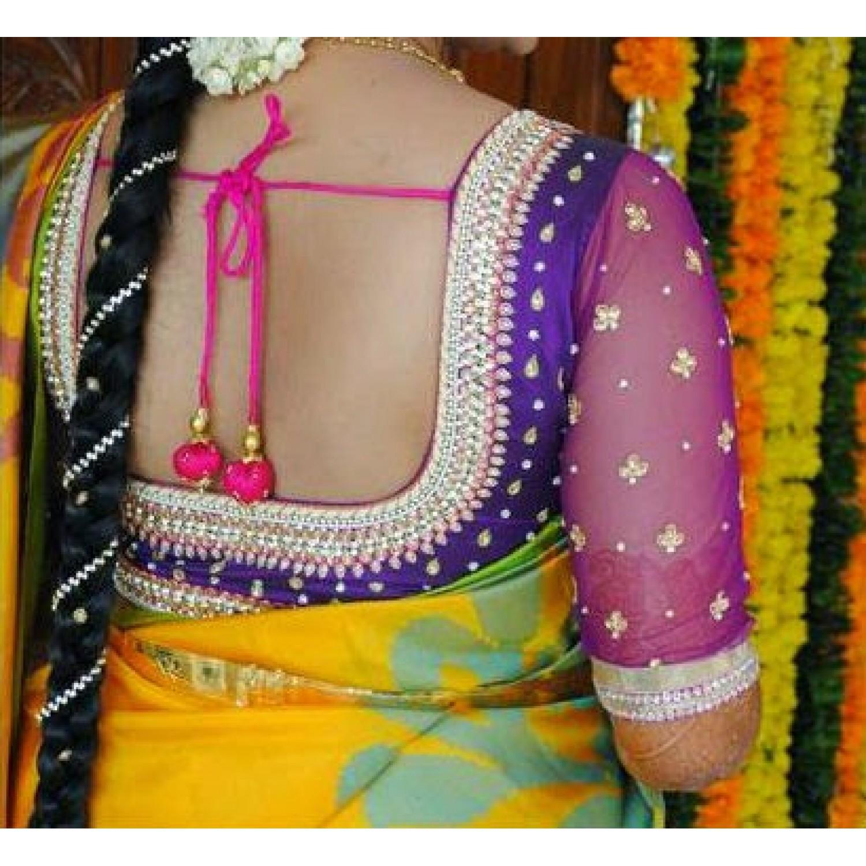 Net blouse designs bridal net blouse designs photo for Net designs