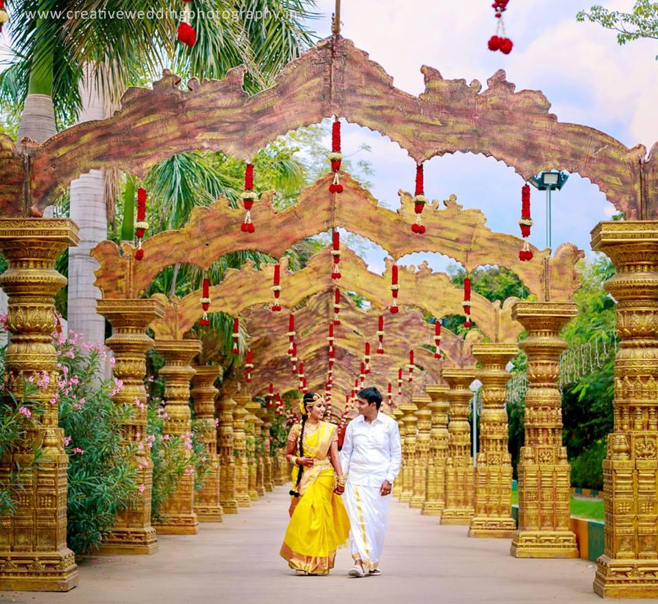 Indian Wedding Path Way Decoration Designs Wedandbeyond Photo