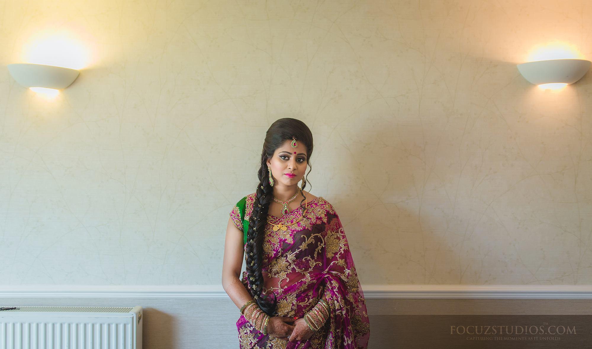 Violet Designer Saree for Reception
