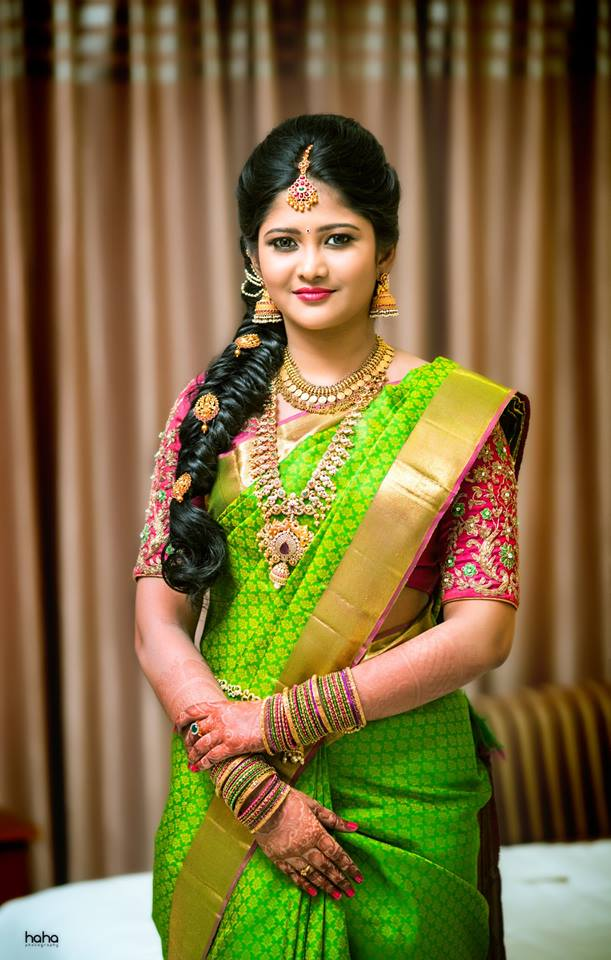 Wedding Green Silk Saree Bridal Green Silk Sarees Photo