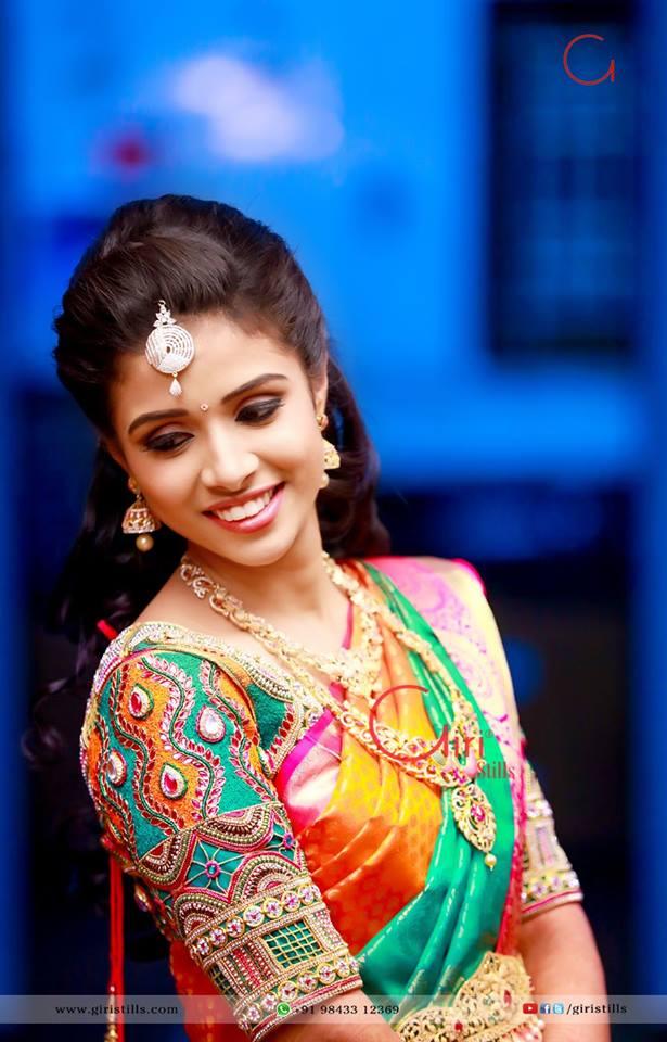 Multicolor Aari work Bridal Blouse
