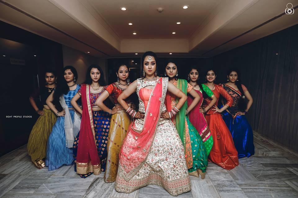 Bride's beautiful army