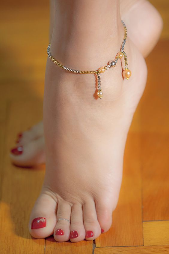 Mallorca Pearl Anklet