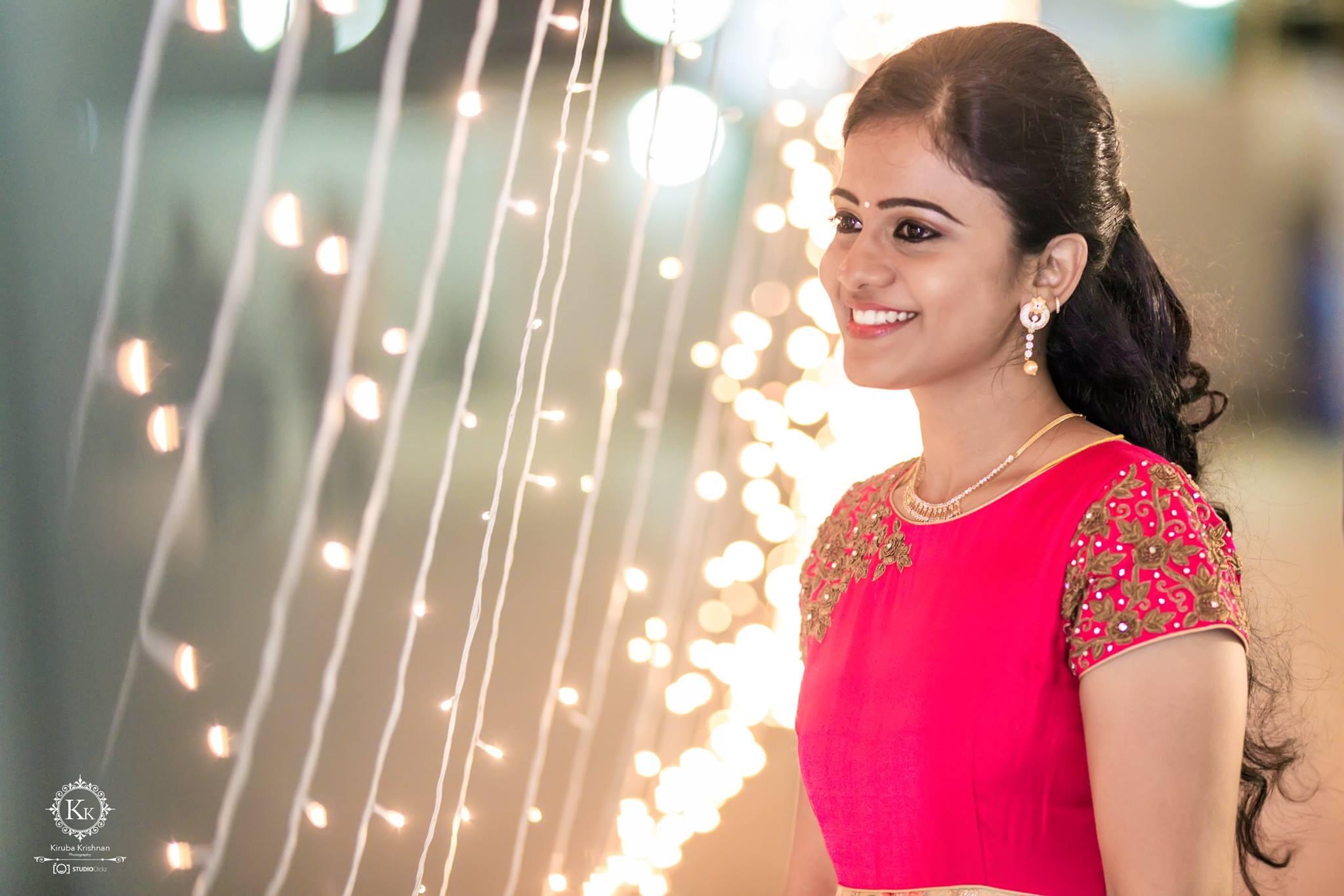 Bridal Makeup For a Pink bride