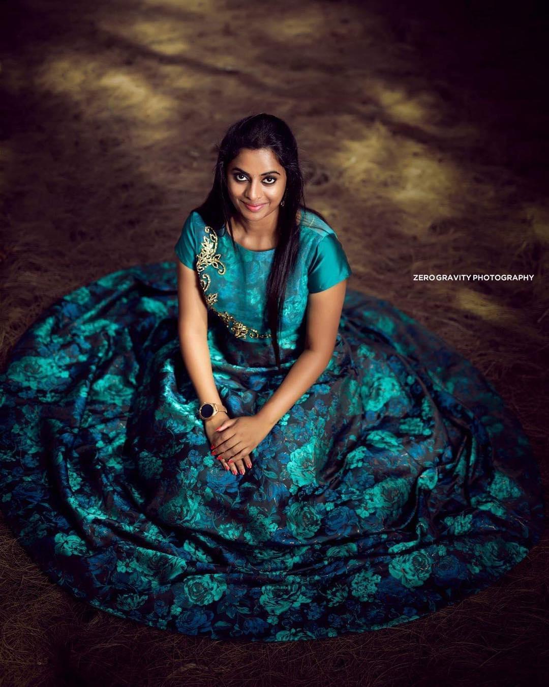 Bride's grace in blue