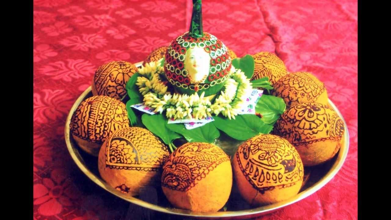Mehndi Fruit Decoration : Wedding coconut decoration designs photo