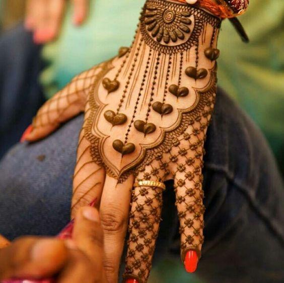 Bridal Mehndi Heart Design