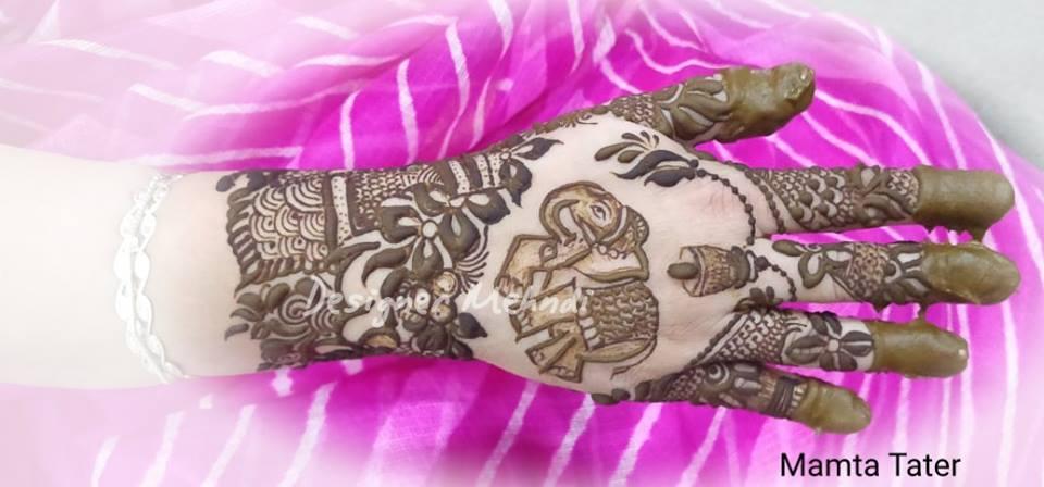 Elephant design mehndi