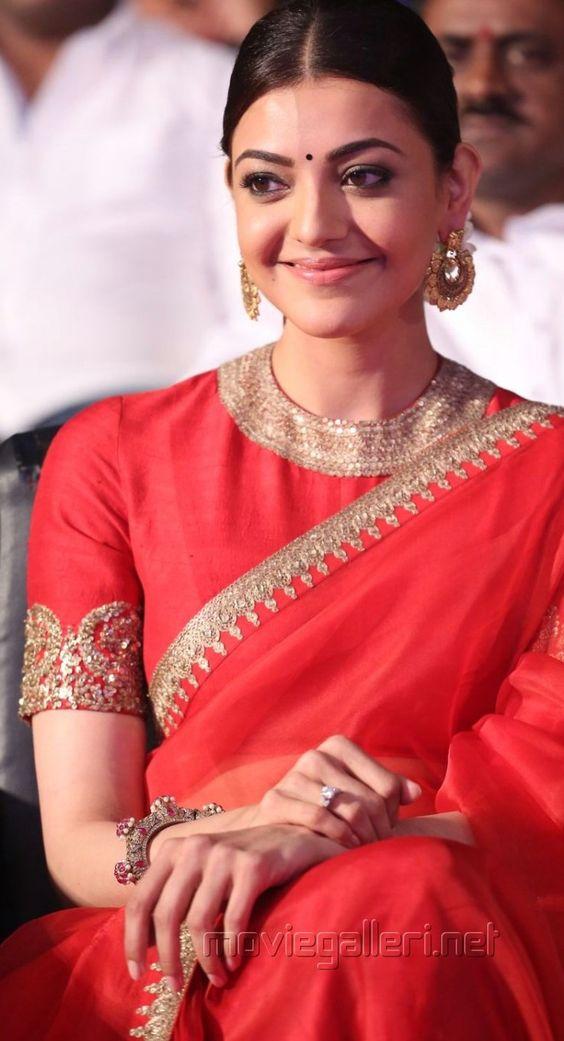 Plain Orange with simple border Designer saree