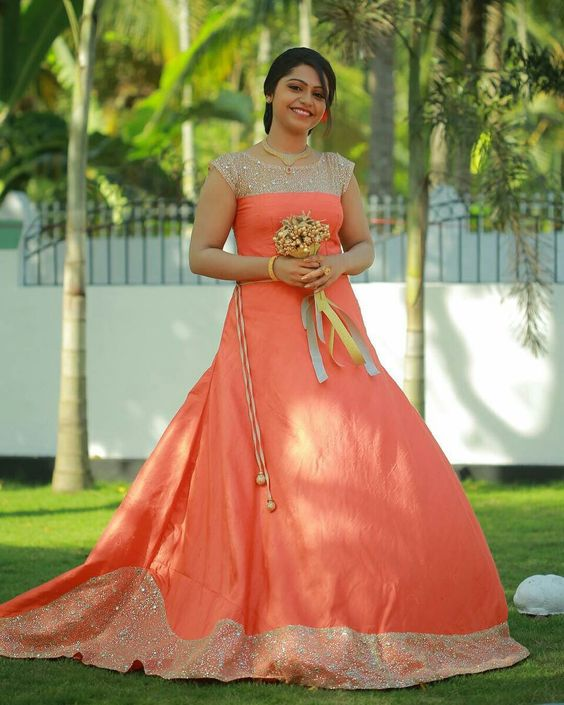 Orange designer bridal lehnga