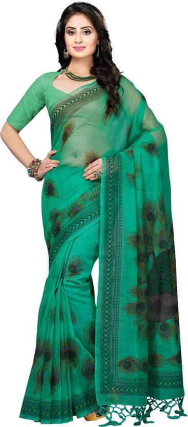 Rani Saahiba Printed Gadwal Polycotton Saree