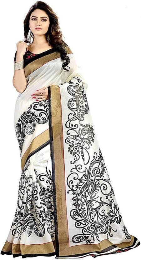 Printed Rajshahi Art Silk Saree