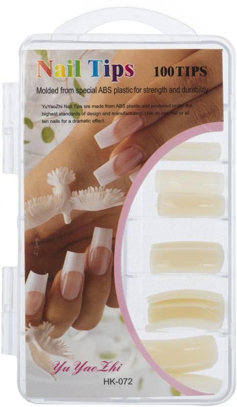 Savni nail art 100 pieces of extensions White