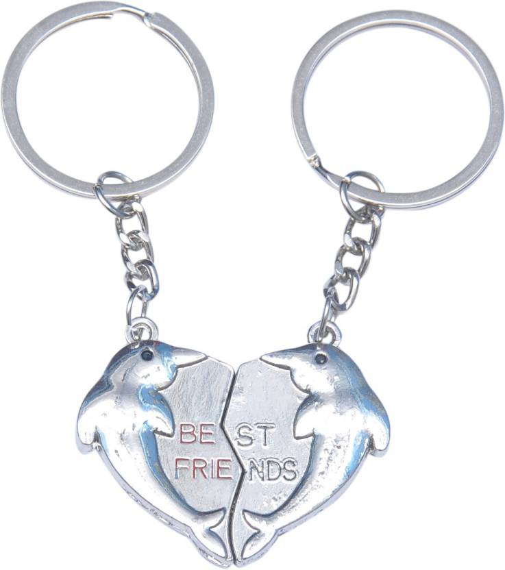 CTW Bestfriend Metal Heart shape Key Chain