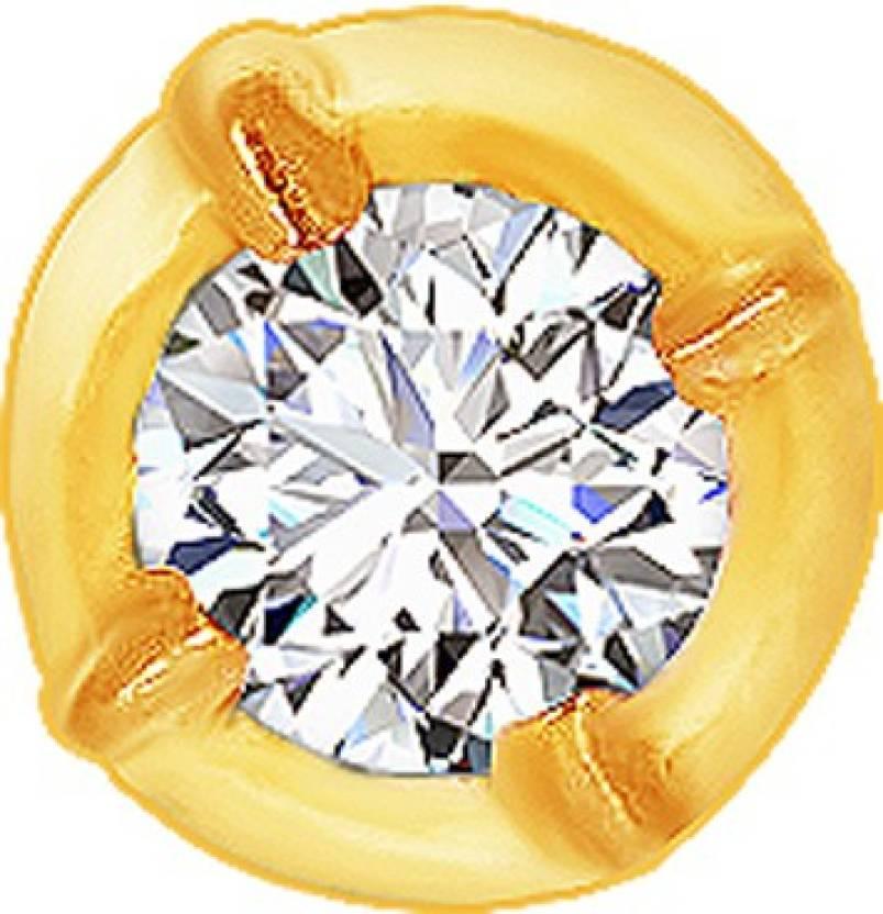 Kalyan Jewellers Single Stone Close Nosepin