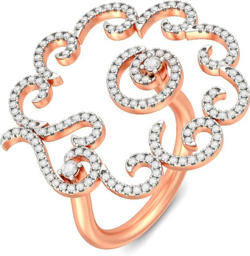 BlueStone Odelia 18kt Diamond Rose Gold ring