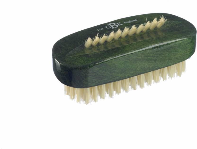 Kent ART8 Pure Beechwood & Pure Bristle Green Nail Brush 98mm