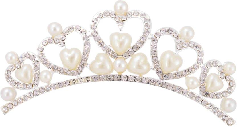 Aaishwarya Pearls in a Heart Princess Tiara Head Band
