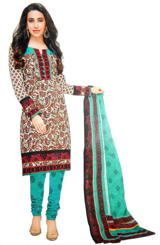 Cotton Floral Print Salwar Suit Dupatta Material