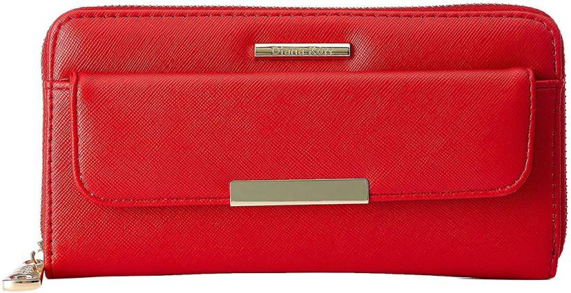 Diana Korr Women Red Artificial Leather Wallet