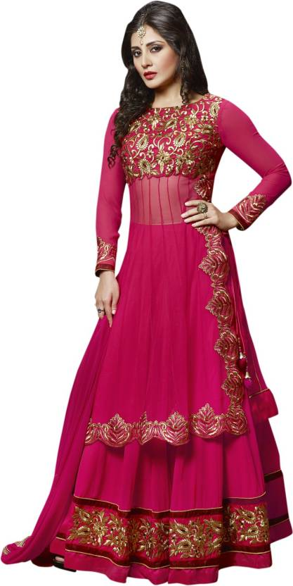 Fabliva Georgette Embroidered Salwar Suit