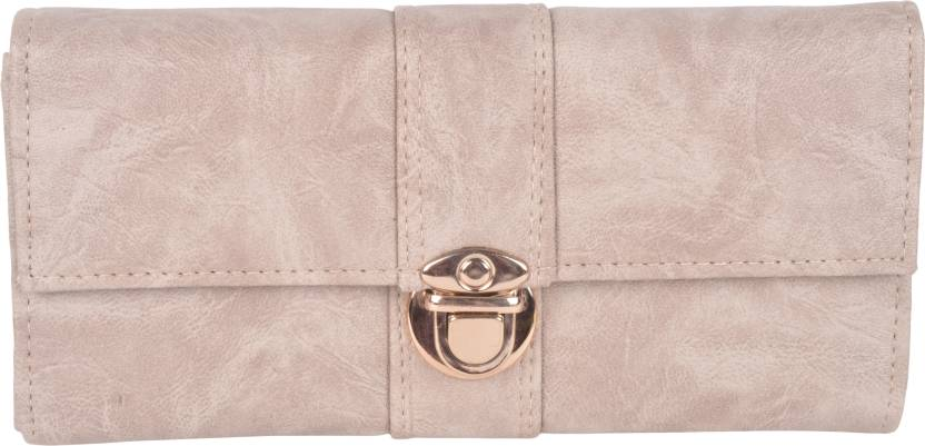 Kleio Women Beige Fabric Wallet