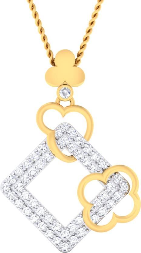 Damor 18kt Diamond Yellow Gold Pendant
