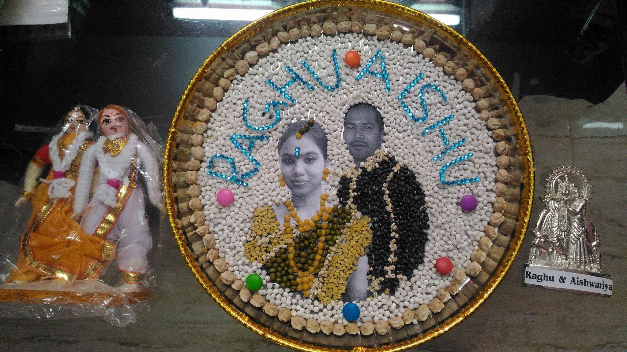 Chandra\'s Wedding, aarthi plates & return gifts | Wedding plate ...