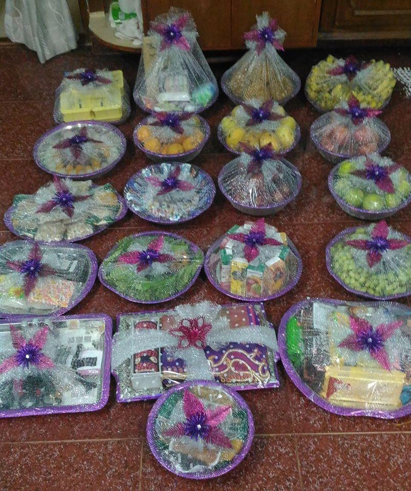 Chandra's Wedding, Aarthi Plates & Return Gifts