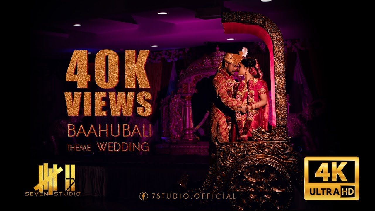 Baahubali theme wedding | Chandiranai Thottathu | Thinu & Mathusha | 7 studio