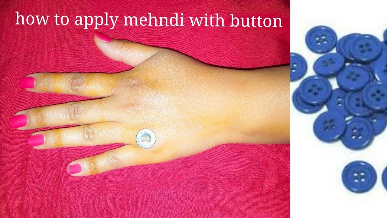 how to apply mehandi design with very easy trick | with the help of button | mehndi design