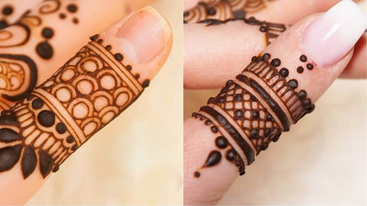 mehndi designs for fingers_2018