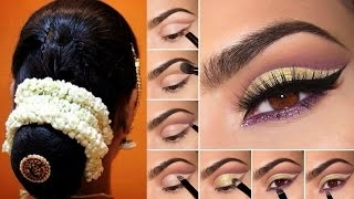Indian Bridal Makeup Hairstyle Saree Draping Step By Step