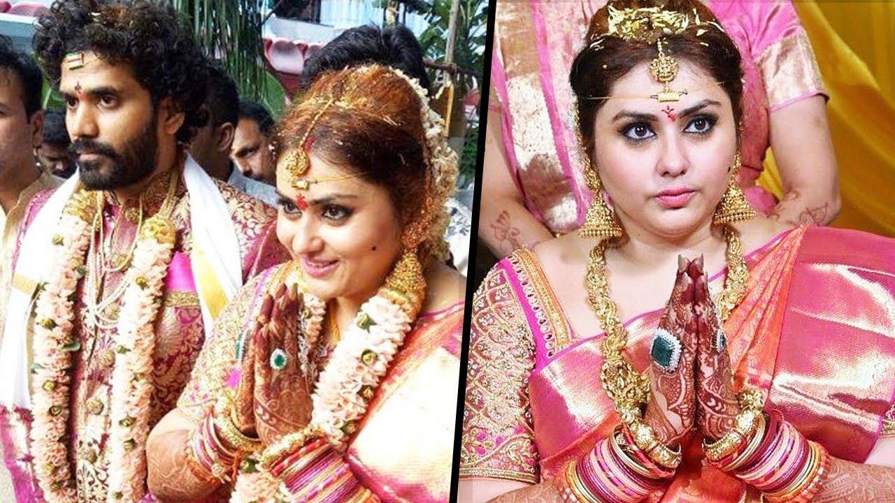 Namitha & Veerandra Chowdhary Marriage (Wedding) Photos With Family