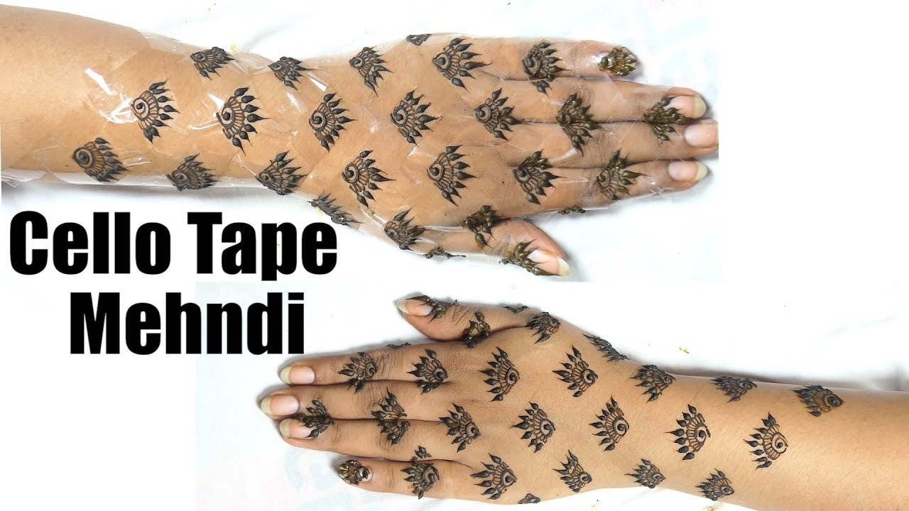 How To Do Cello Tape Mehndi