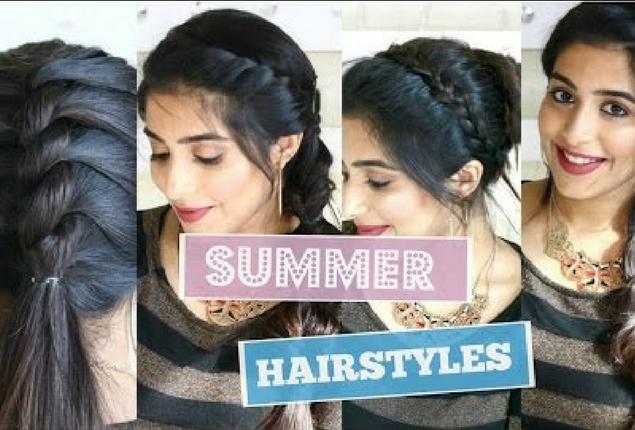 4 Cute Summer Hairstyles