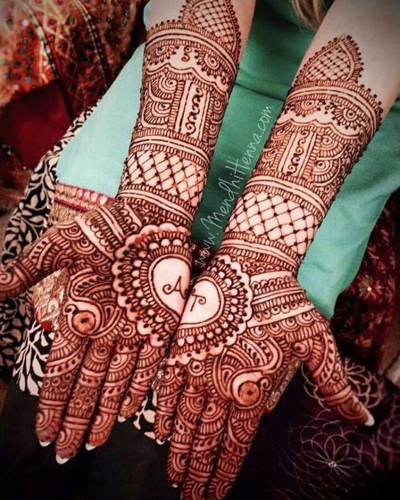 Bridal Mehndi Gallery : Bridal mehndi with name photo gallery wedandbeyond