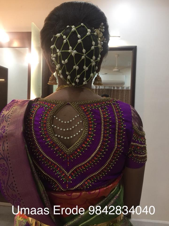 Beautiful pearl work blouse