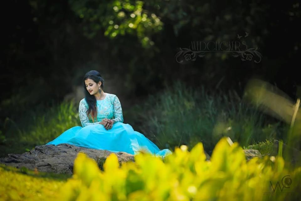 Pretty Blue Bridal gown