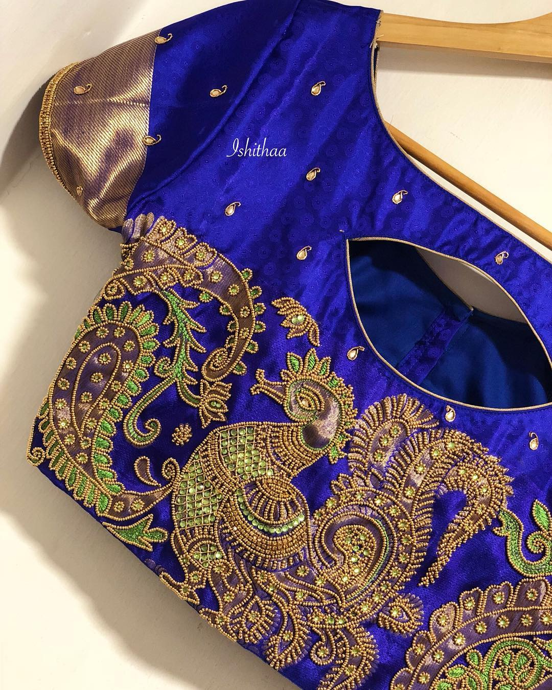 The Royal Blue work blouse