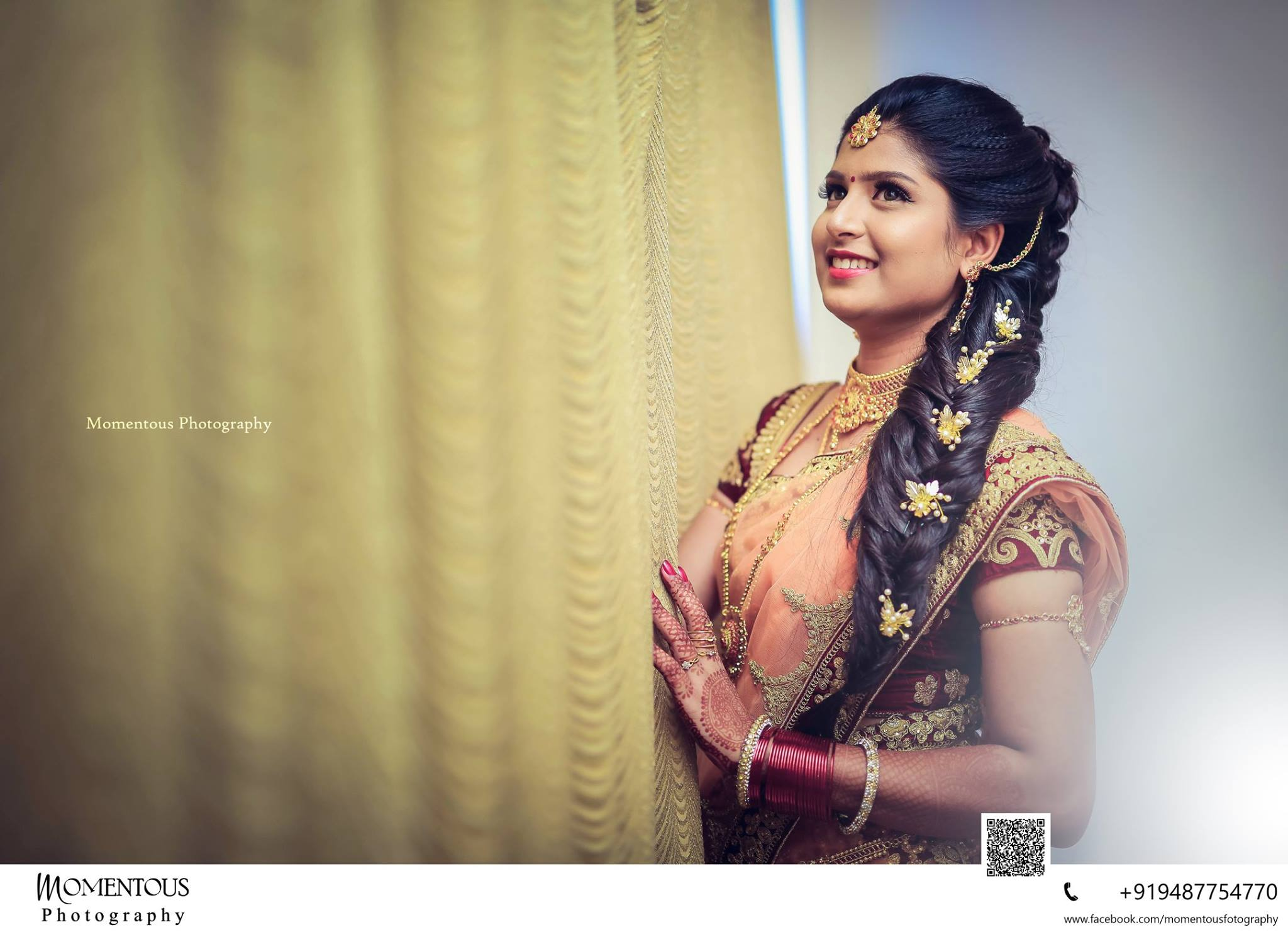 bridal hairstyle for reception | indian bridal hairstyle | photo
