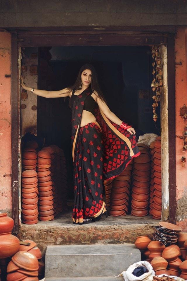 Beautiful Black Silk Saree
