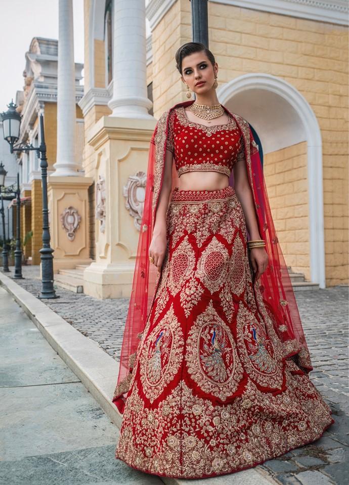 Styling Cultural Red Lehenga Design