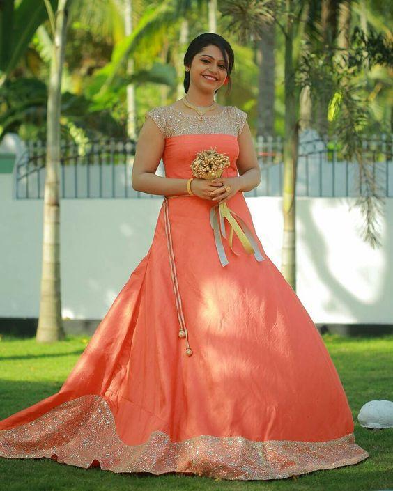 Orange designer bridal lehnga