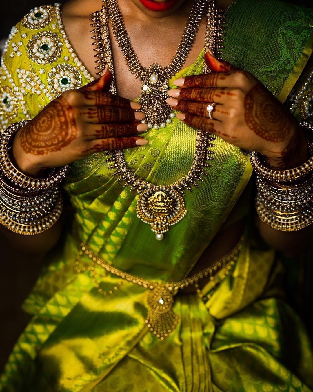 Bridal silver Neck jewellery