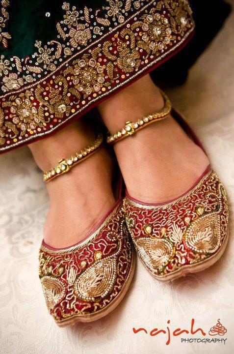 Maroon Ethnic Bridal Shoe